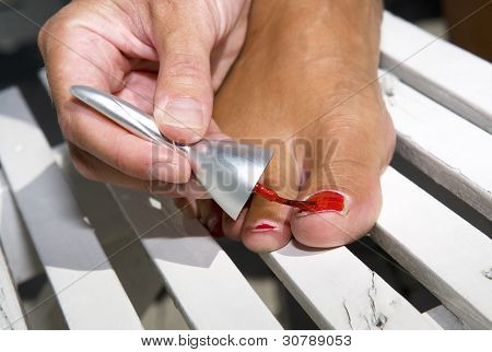 Painting Toe Nails