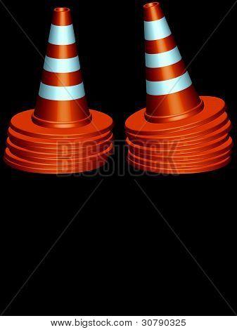 Traffic Cones Piles