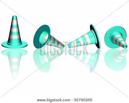 Traffic Cones reflektiert