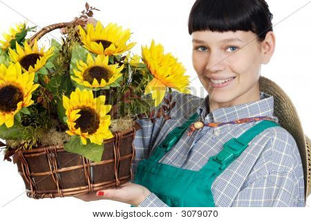 Beautiful Woman Gardener