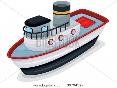 illustration of ship on a white background