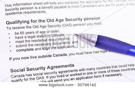 Info to qualify for the old age pension. (Canada)