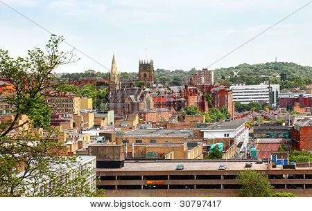 Nottingham sky line england uk