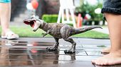.toy Dinosaur Copy - Tyrannosaurus. The Most Popular Types Of Dinosaurs In The Form Of Childrens To poster