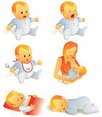 Icon Set - Baby leven scènes. Illustratie