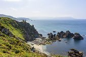 View From The Cliff O Picon On The Cliffs Of Loiba, Galicia, Spain poster