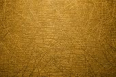 Gold Background With Scratches.the Texture Is Gold With Scratches. poster