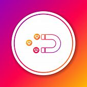 Color Customer Attracting Line Icon Isolated On Color Background. Customer Retention, Support And Se poster