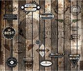 Постер, плакат: векторный набор элементов каллиграфии дизайна страница украшение премиум качества и гарантия удовлетворенности