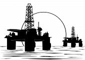 picture of oil rig  - Oil and gas industry - JPG