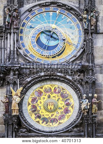 Clock Of Cityhall Prague