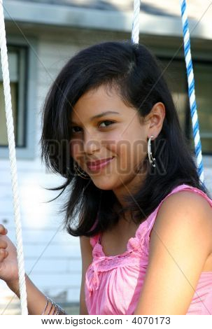Cute Hispanic Teenage Girl