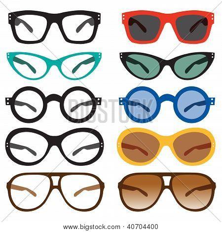 Geek Nerd Glasses Retro Vintage Modern Sunglasses
