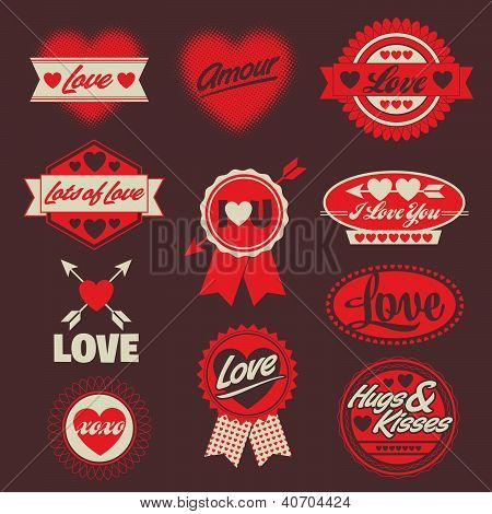 Valentine's Day Vector/illustration for AI/EPS Labels, Seals, and Crests with a Love theme