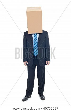 Businessman With Cardbox