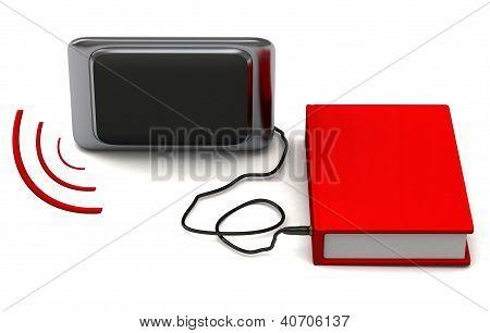 Audio book concept 3d
