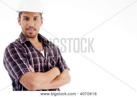 Engineer With Folded Arms