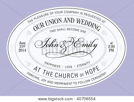Vector Oval Elegant Frame. Easy to edit. Perfect for invitations or announcements.