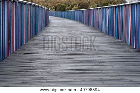 Brightly Colored Walkway
