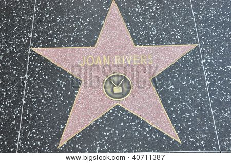 Joan River's Star at Hollywood Walk of Fame