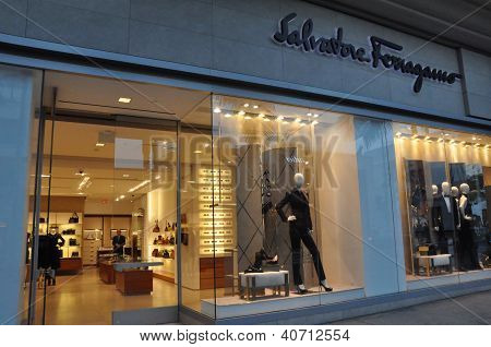 Salvatore Ferragamo store at Rodeo Drive in Beverly Hills, California