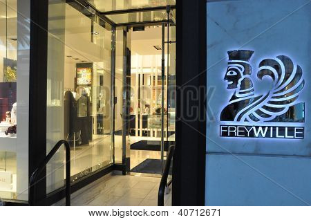 Frey Wille store at Rodeo Drive in Beverly Hills, California