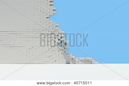 Unfinished Brick Wall