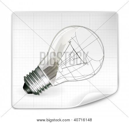 Lamp drawing, bitmap copy