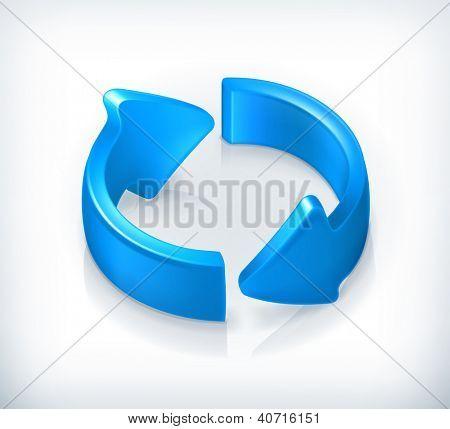 Blue cycle arrows, bitmap copy