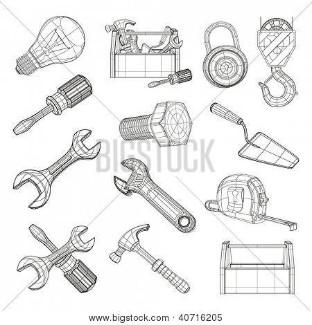 Drawing tools set, bitmap copy