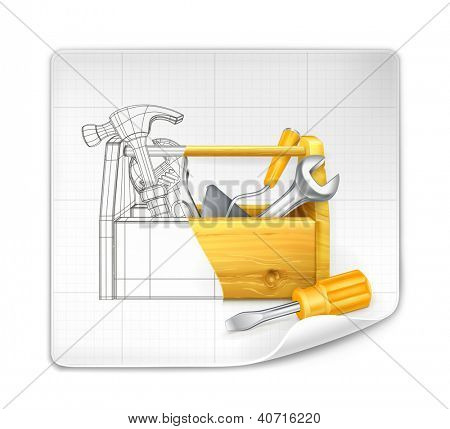 Lifting hook drawing, bitmap copy