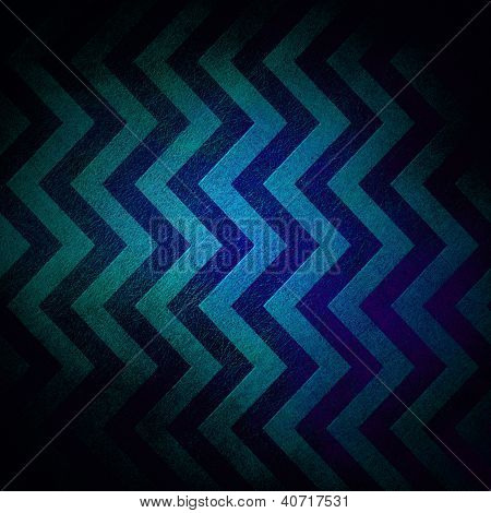 abstract blue chevron background with retro black vignette border