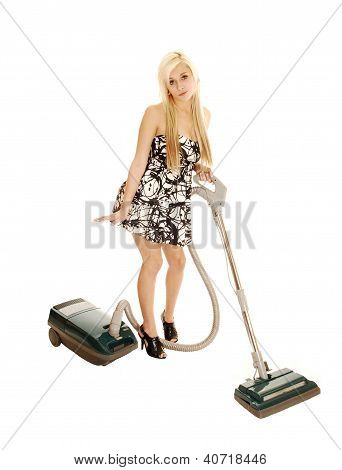 Girl With Vacuum.