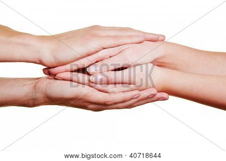Folding some hands for condolence and comfort