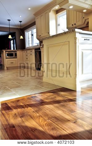 Hardwood  And Tile Floor