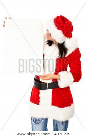 Christmas Girl Holding Add