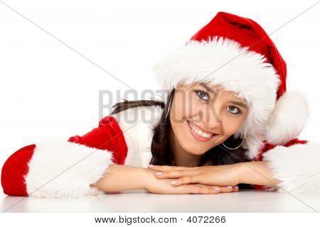 Weihnachten mädchen portrait