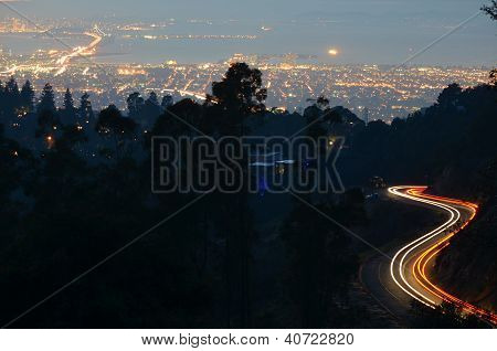 Light Trails Over San Francisco Bay