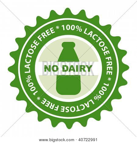 100% Lactose Free food label.