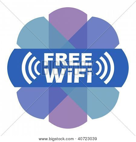 Stylized Free Wifi label. EPS10.