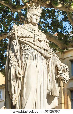 Statue Of King Rene Of Anjou, Aix-en-provence