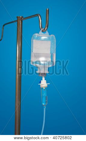 Medicine Dropper With An Antibiotic On Blue