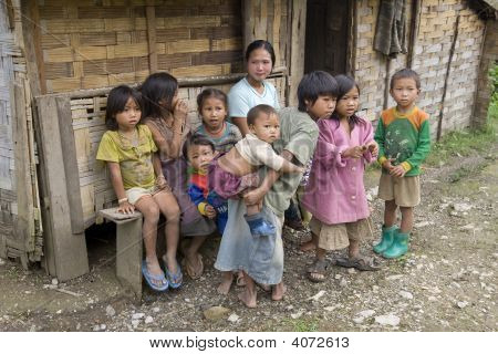 Poor Laotian Hmong Children