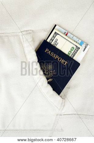 Passport In White Pocket