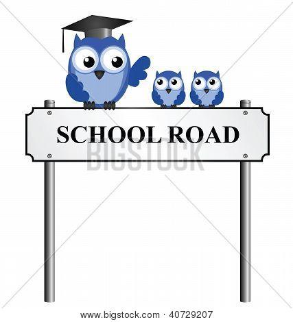 Señal de tráfico de la escuela