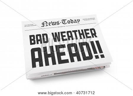 schlechtes Wetter voraus