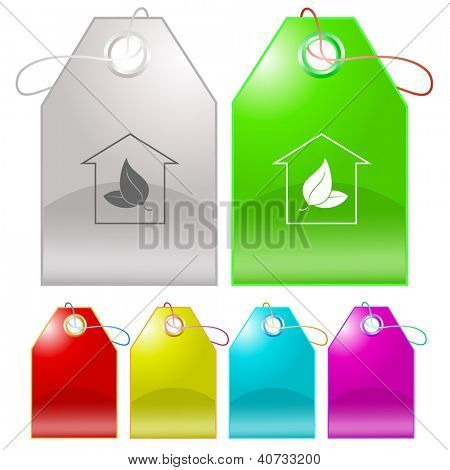 Protection of nature. Raster tags. Vector version is in my portfolio.