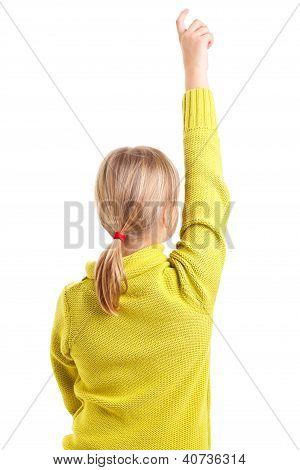 Erhöhung Hand Mädchen