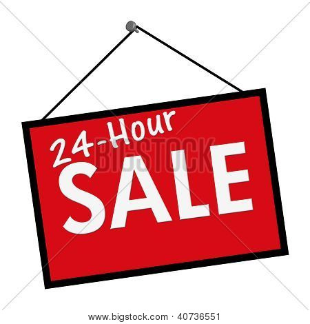 24 Hour Sale Sign