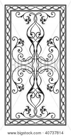 Pattern For A Rectangular Table Tops Applying Sandblasting